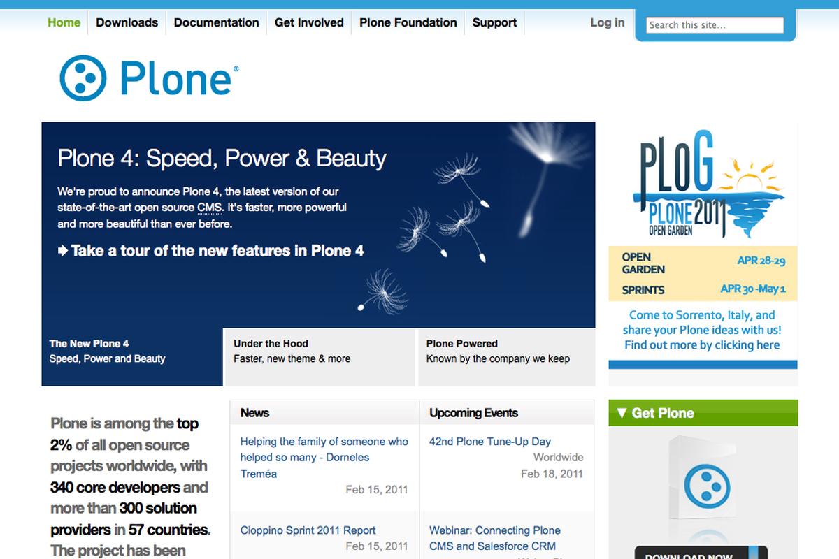 Offizielle Website zu Plone