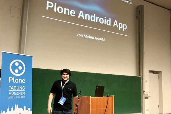 Live-Präsentation der neuen Plone Android App