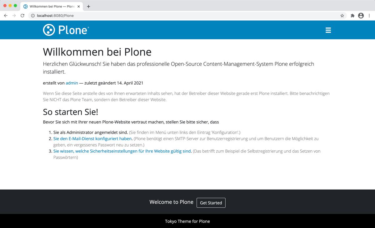 Screenshot von Tokyo Theme für Plone